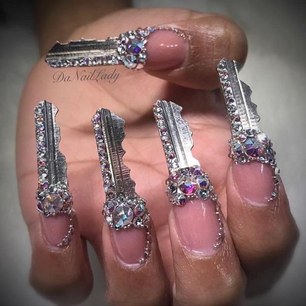 форма ногтей ключи