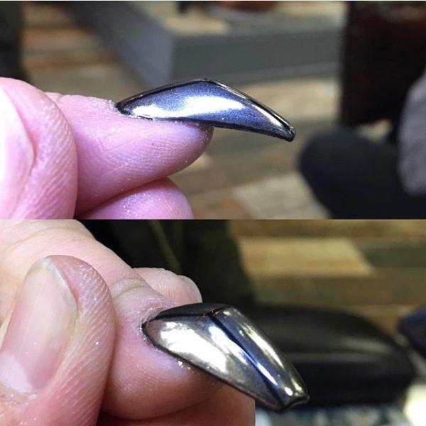 горбатая форма ногтя