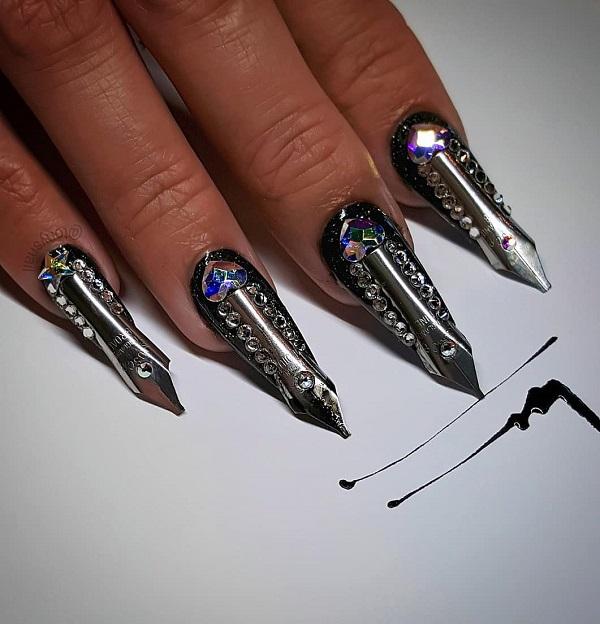 необычные формы ногтя