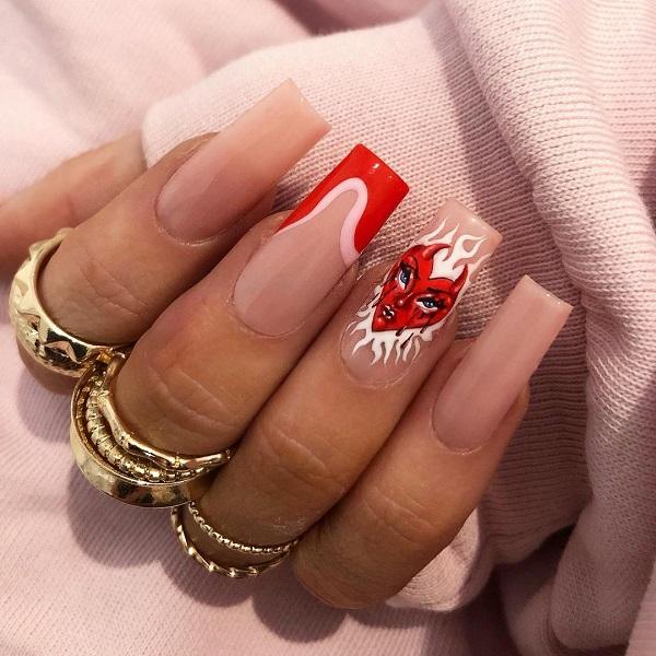ногти в стиле анти-валентина