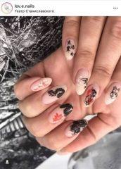дизайн ногтей с татуировками