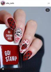 дизайн ногтей татуировки