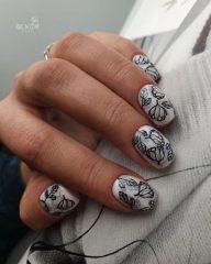 дизайн ногтей татуировка
